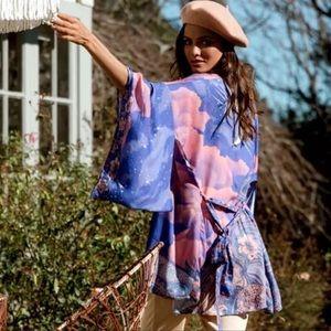 The Moon & Stars Lunar Short Kimono Duster Coverup